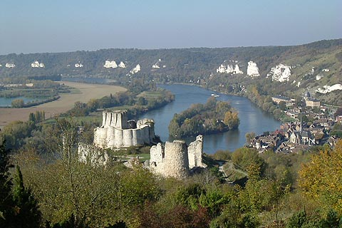 Chateau-Gaillard-Richard-Coeur-De-Lion-1196-Les-Andelys-Eure-Haute-Normandie-France-Europe